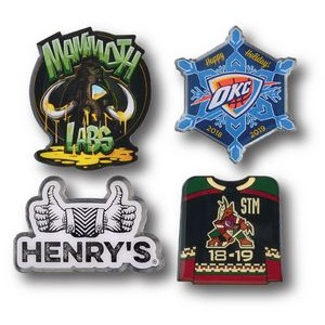 "1"" Overseas Photo Printed Lapel Pins"
