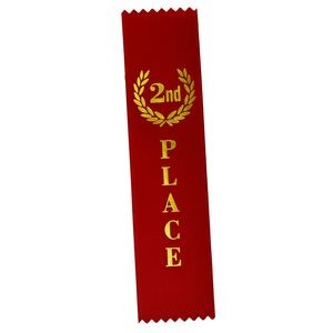 "2nd Place Standard Stock Ribbon w/Pinked Ends (2""x8"")"
