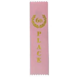 "6th Place Standard Stock Ribbon w/ Pinked Ends (2""x8"")"
