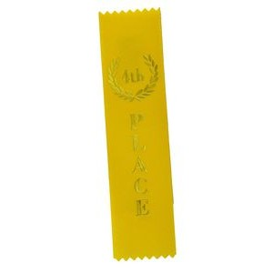 "4th Place Standard Stock Ribbon w/Pinked Ends (2""x8"")"