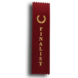 "Finalist Standard Stock Ribbon w/ Pinked Ends (2""x8"")"