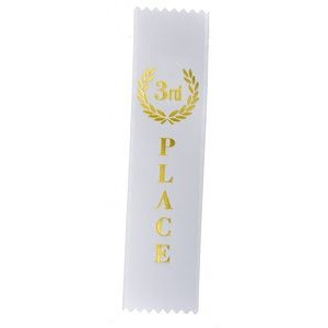 "3rd Place Standard Stock Ribbon w/Pinked Ends (2""x8"")"