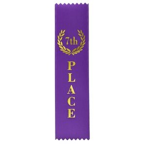 "7th Place Standard Stock Ribbon w/ Pinked Ends (2""x8"")"