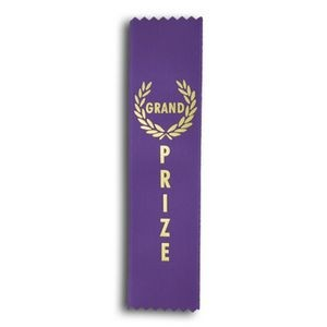 "Grand Prize Standard Stock Ribbon w/ Pinked Ends (2""x8"")"
