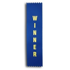 "Winner Standard Stock Ribbon w/ Pinked Ends (2""x8"")"