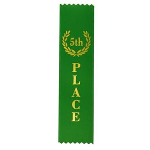 "5th Place Standard Stock Ribbon w/Pinked Ends (2""x8"")"